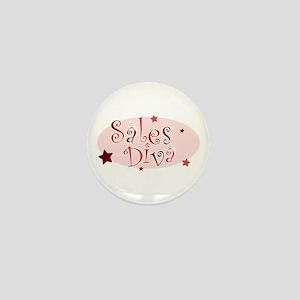 """""""Sales Diva"""" [red] Mini Button"""